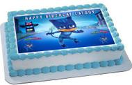 PJ Masks Cat Boy Edible Birthday Cake Topper OR Cupcake Topper, Decor