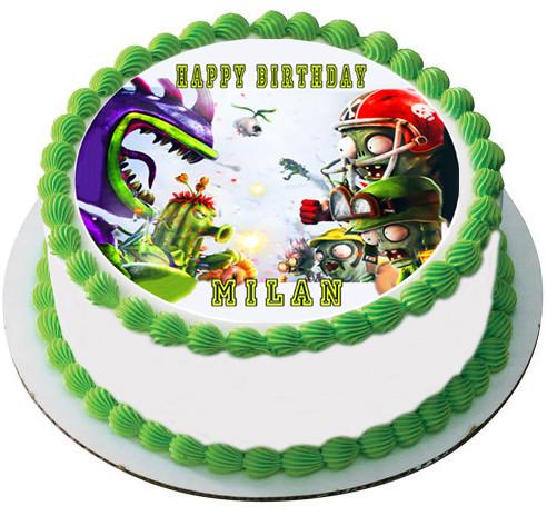 Plants Vs Zombies 3 Edible Birthday Cake Topper