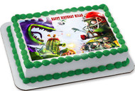 Plants vs Zombies 3 Edible Birthday Cake Topper OR Cupcake Topper, Decor