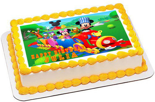 Tremendous Mickey Mouse Clubhouse Train Edible Birthday Cake Topper Birthday Cards Printable Trancafe Filternl
