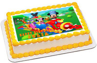 Mickey Mouse Clubhouse Train Edible Birthday Cake Topper OR Cupcake Topper, Decor