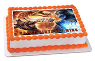 Mortal Kombat 2 Edible Birthday Cake Topper OR Cupcake Topper, Decor