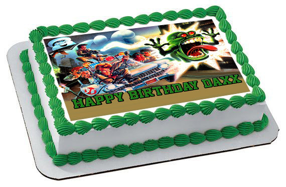 Remarkable Ghostbusters 3 Edible Birthday Cake Topper Funny Birthday Cards Online Alyptdamsfinfo