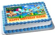 Super Mario Luigi 1 Edible Birthday Cake Topper OR Cupcake Topper, Decor