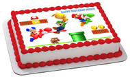 Super Mario Luigi 2 Edible Birthday Cake Topper OR Cupcake Topper, Decor