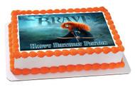 Brave Edible Birthday Cake Topper OR Cupcake Topper, Decor