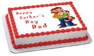 Father's Day 1 Edible Birthday Cake Topper OR Cupcake Topper, Decor