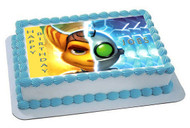 Ratchet & Clank 1 Edible Birthday Cake Topper OR Cupcake Topper, Decor