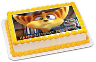 Ratchet & Clank 2 Edible Birthday Cake Topper OR Cupcake Topper, Decor
