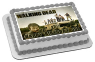 The Walking Dead 3 Edible Birthday Cake Topper OR Cupcake Topper, Decor