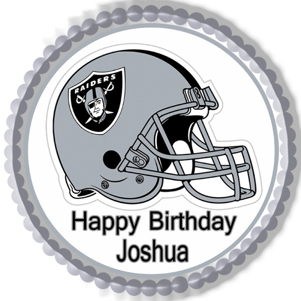 Oakland Raiders Edible Birthday Cake Topper