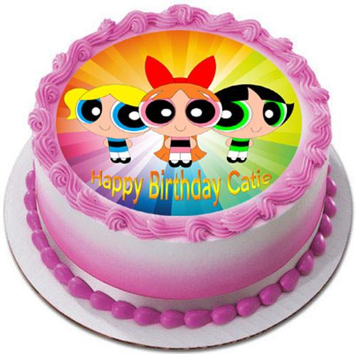 Awe Inspiring Powerpuff Girls Edible Birthday Cake Topper Funny Birthday Cards Online Alyptdamsfinfo