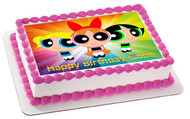 Powerpuff Girls Edible Birthday Cake Topper OR Cupcake Topper, Decor
