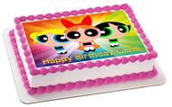 Powerpuff Girls Edible Birthday Cake Topper OR Cupcake Topper, Decor