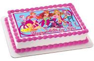 Winx Club Edible Birthday Cake Topper OR Cupcake Topper, Decor