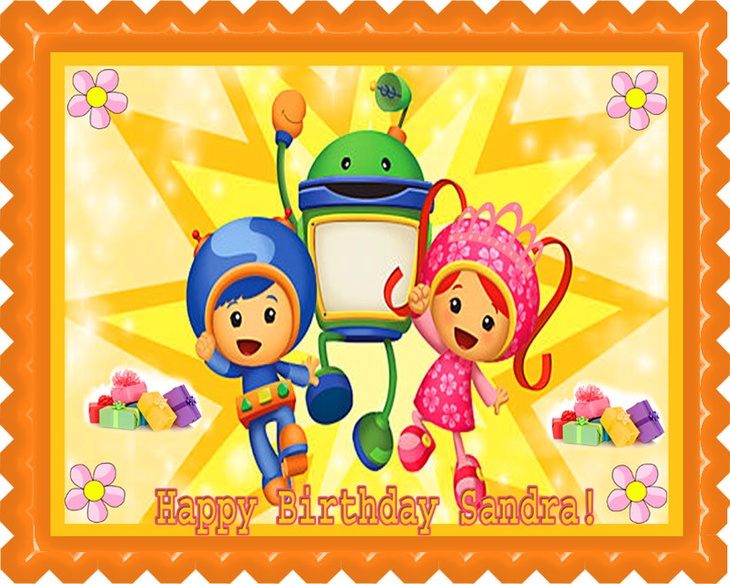 Fine Team Umizoomi 2 Edible Birthday Cake Topper Personalised Birthday Cards Paralily Jamesorg