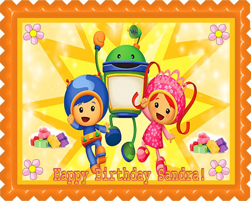 Team Umizoomi 2 Edible Birthday Cake Topper OR Cupcake Decor Price 795 Image 1