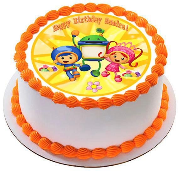 Phenomenal Team Umizoomi 2 Edible Birthday Cake Topper Personalised Birthday Cards Epsylily Jamesorg