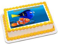 Finding Dory 2 Edible Birthday Cake Topper OR Cupcake Topper, Decor