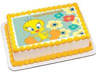 Tweety Bird Edible Birthday Cake Topper OR Cupcake Topper, Decor