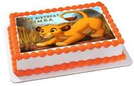 Lion King Simba Edible Birthday Cake Topper OR Cupcake Topper, Decor