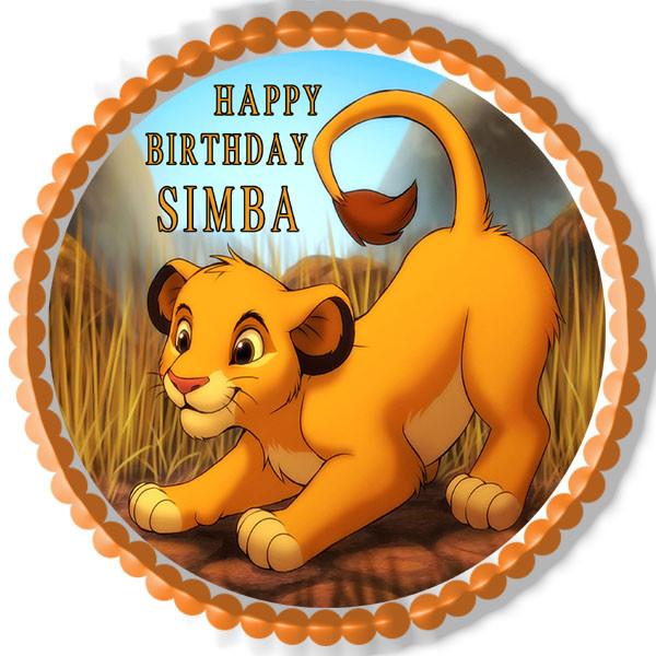 Pleasing Lion King Simba Edible Birthday Cake Topper Funny Birthday Cards Online Bapapcheapnameinfo