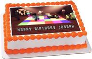 Minecraft Disco Edible Birthday Cake Topper OR Cupcake Topper, Decor