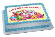 SHOPKINS 5 Edible Birthday Cake Topper OR Cupcake Topper, Decor