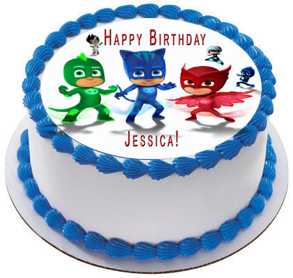 PJ MASKS 6 Edible Birthday Cake Topper
