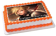 Final Fantasy 7 Edible Birthday Cake Topper OR Cupcake Topper, Decor