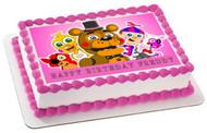 Fnaf World 1 Edible Birthday Cake Topper OR Cupcake Topper, Decor