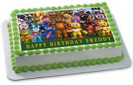 Fnaf World 2 Edible Birthday Cake Topper OR Cupcake Topper, Decor