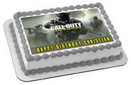 Call of Duty Infinite Warfare Edible Birthday Cake Topper OR Cupcake Topper, Decor