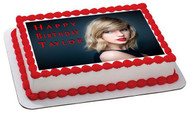 Taylor Swift Edible  Edible Birthday Cake Topper OR Cupcake Topper, Decor