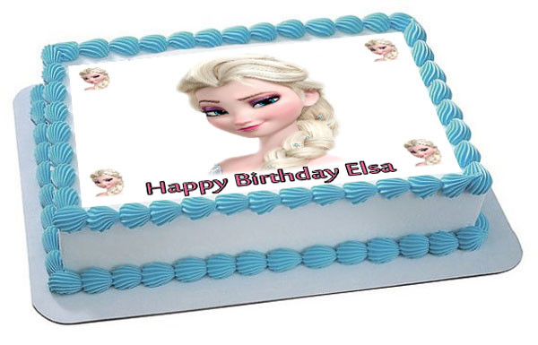 Frozen Elsa Face 2 Edible Birthday Cake Topper