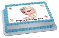 Frozen Elsa Face 2 Edible  Edible Birthday Cake Topper OR Cupcake Topper, Decor