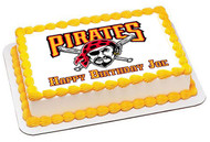 PITTSBURGH PIRATES 2 Edible Birthday Cake Topper OR Cupcake Topper, Decor