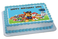 Paw Patrol 6 Edible Birthday Cake Topper OR Cupcake Topper, Decor