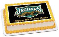 Jacksonville Jaguars 2 Edible Birthday Cake Topper OR Cupcake Topper, Decor