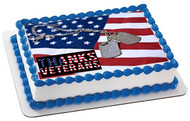 Veterans Day 1 Edible Birthday Cake Topper OR Cupcake Topper, Decor