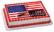 Veterans Day 2 Edible Birthday Cake Topper OR Cupcake Topper, Decor