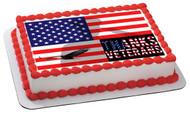 Veterans Day 2 Edible Birthday Cake Topper OR Cupcake Topper, Decor