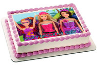 Barbie Princess Power Edible Birthday Cake Topper OR Cupcake Topper, Decor