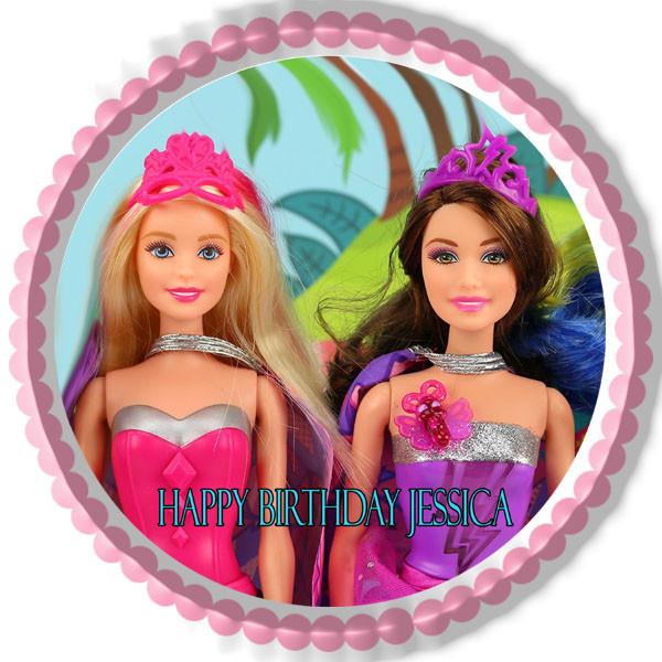 Barbie Princess Power Edible Birthday Cake Topper