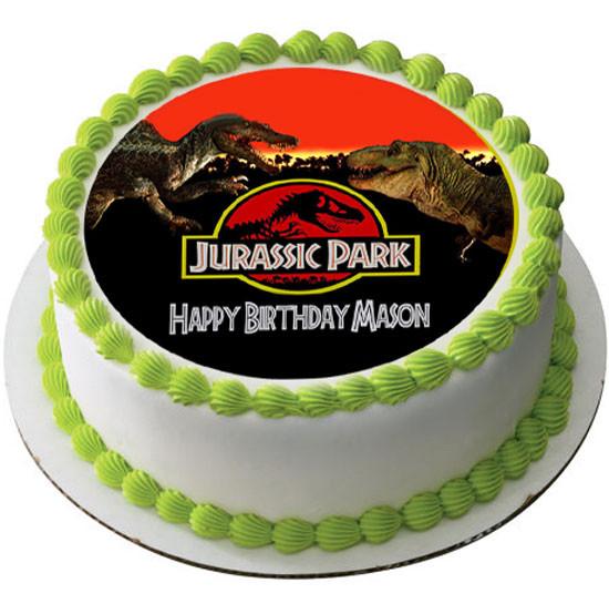 Jurassic Park Edible Birthday Cake Topper
