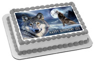 Wolf (Nr2) - Edible Cake Topper OR Cupcake Topper, Decor