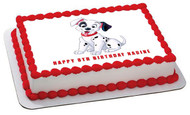 Dalmatian Edible Birthday Cake Topper OR Cupcake Topper, Decor