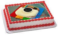 Instagram Logo - Edible Cake Topper OR Cupcake Topper, Decor