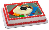 Instagram Logo - Edible Cake Topper OR Cupcake Topper, Decor