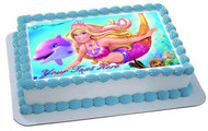 Barbie Mermaid - Edible Cake Topper OR Cupcake Topper, Decor